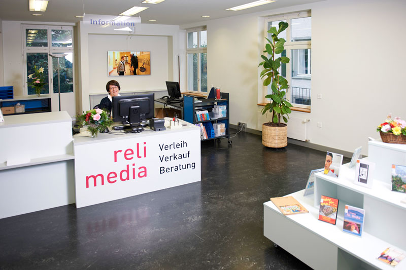 Hier wird man freundlich empfangen: Das Entrée von Relimedia in Zürich.
